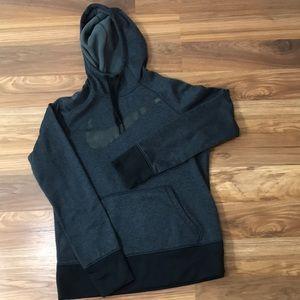 Nike Therma-Fit Big Swoosh Hoodie Black Gray M